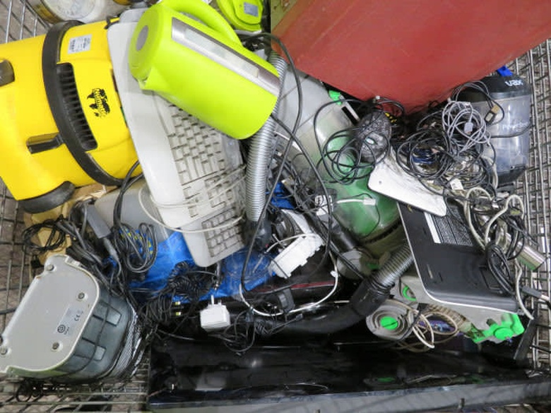 E-waste at the Veolia Southwark facility