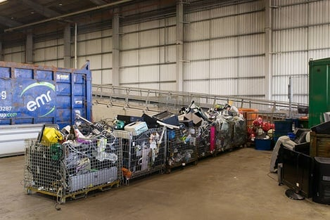The Veolia recycling facility in Southwark, London, is one of the biggest facilities in the UK © Leo Goddard
